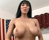 Hot brunette Alia Janine with big soft tits