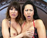 Asian MILFs threesome – Ava Devine and Kitty Langdon
