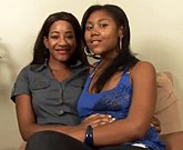 Two black lesbians Rose and Kendra Lee have some Strap-On fun