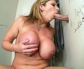 Hot blonde with huge tits Sara Jay – Glory Hole Surprise