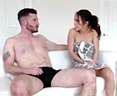 Megan Rain takes a good pounding before getting a massive the face